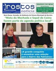 """""""Mata da Machada e Sapal de Coina fazem parte da agenda política local"""""""