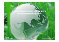 Präsentation Hauptversammlung 2009 - EnviTec Biogas AG