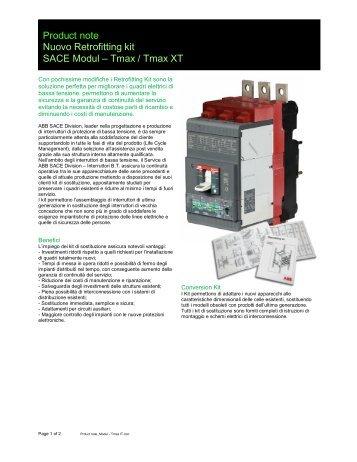 Product note Nuovo Retrofitting kit SACE Modul – Tmax / Tmax XT