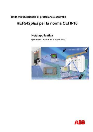 REF542plus per la norma CEI 0-16