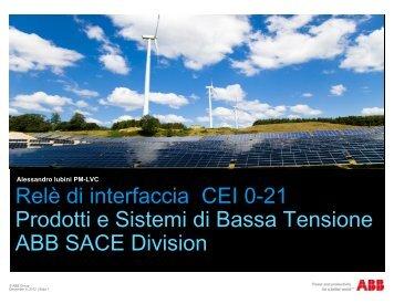 Relè di interfaccia CEI 0-21 Prodotti e Sistemi di ... - Nuova Orsud