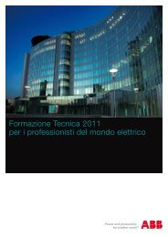 Formazione Tecnica 2011 per i professionisti del mondo elettrico