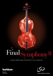 MUSIC FROM FINAL FANTASY® V VIII IX AND XIII