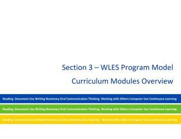 Workforce Literacy Essential Skills - National Adult Literacy Database