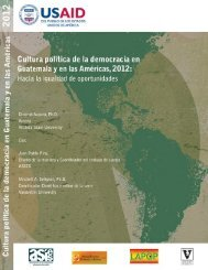 Cultura política de la democracia en Guatemala y las Américas 2012.