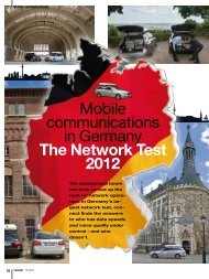 Mobile communications in Germany The Network Test ... - P3 Group