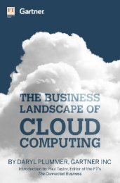 The Business Landscape Of Cloud Computing - Financial Times