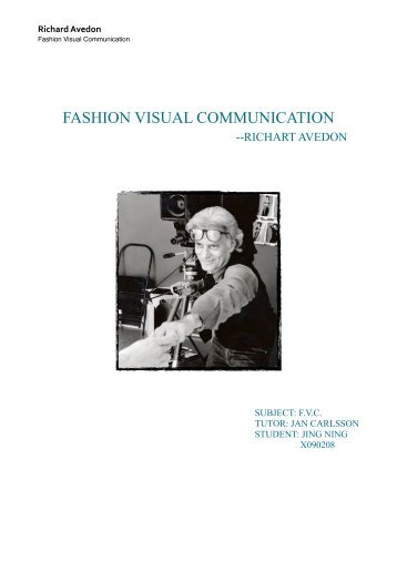 fashion visual communication - Textile and Fashion Management