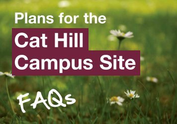 Plans for the Cat Hill Campus Site - London & Quadrant Group
