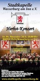 Herbst-Konzert - Stadtkapelle Wasserburg am Inn eV
