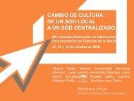 CAMBIO DE CULTURA DE UN SOD LOCAL A UN SOD CENTRALIZADO