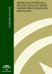 Memoria 2009 - Biblioteca Virtual del SSPA