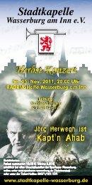 Einladungs- und Programmheft - Stadtkapelle Wasserburg am Inn eV