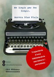 Aurora Díaz-Plaja: llegir per fer llegir - Dipòsit Digital de la UB