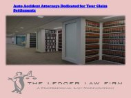 Auto Accident Attorneys Dedicated for Your Claim