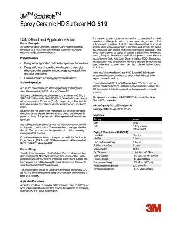 3M Scotchkote Epoxy Ceramic HD Surfacer HG 519