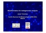 Bioinformatics for metagenomic analysis