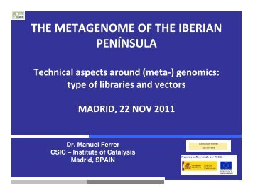 THE METAGENOME OF THE IBERIAN PENÍNSULA