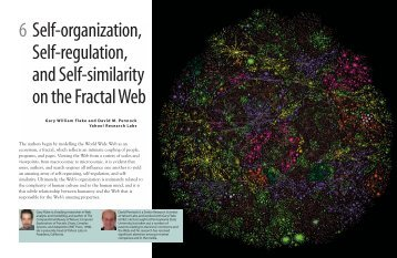 6 Self-organization Self-regulation and Self-similarity on the Fractal Web