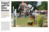 Doppel- gold für Alina Meister - Pferd+Sport