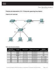 Práctica de laboratorio 5.5.1 Protocolo spanning tree básico