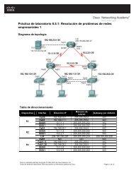 Práctica de laboratorio 8.5.1 Resolución de problemas de redes empresariales 1