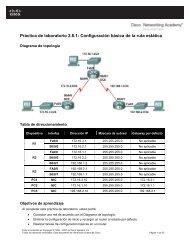 Práctica de laboratorio 2.8.1 Configuración básica de la ruta estática