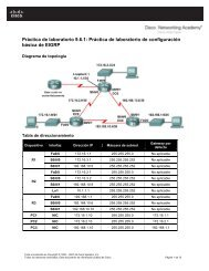 Práctica de laboratorio 9.6.1: Práctica de laboratorio de ...