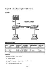 Chapter 6 Lab A Securing Layer 2 Switches