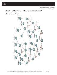 Práctica de laboratorio 6.4.5 Reto de sumarización de ruta