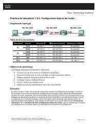 Práctica de laboratorio 1.5.2 Configuración básica del router