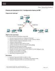 Práctica de laboratorio 5.6.1 Configuración básica de RIP