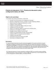 Práctica de laboratorio 11.6.1: Práctica de laboratorio sobre ...