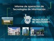 Informe de operación de Tecnologías de Información