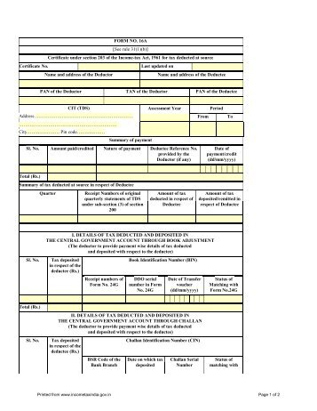 form no 16 see rule 31 1 a certificate under section 203 leh