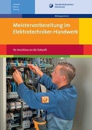 Meistervorbereitung im Elektrotechniker-Handwerk - Meisterschulen