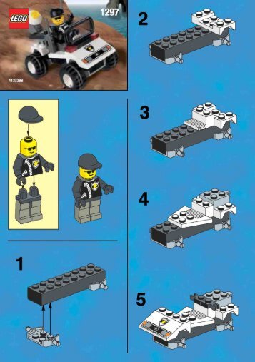 Lego POLICE CAR 1297 - Police Car 1297 Build.Instr. 1297 - 1