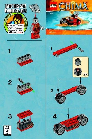 Lego Worriz' Fire Bike 30265 - Worriz' Fire Bike 30265 Bi 2001/ 2 -30265 V39 - 2
