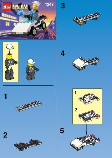 Lego POLICE PATROL CAR 1247 - Police Patrol Car 1247 Build.Inst. For 1247 - 1