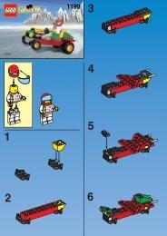 Lego CAR 1190 - Car 1190 Build.Inst. For 1190 - 1