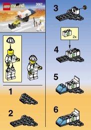 Lego REMOTE CONTROL ROCKET 3067 - Remote Control Rocket 3067 Building Inst. For 3067 - 1
