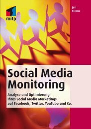 Social Media Monitoring Analyse und Optimierung Ihres Social - Mitp