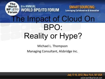BPO Reality or Hype?