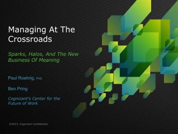 Managing At The Crossroads