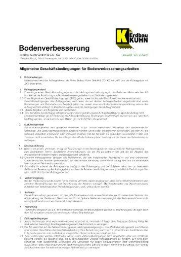 AGB - Erdbau Kuhn GmbH & Co. KG