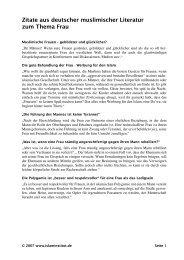 Zitate aus deutscher muslimischer Literatur zum Thema Frau