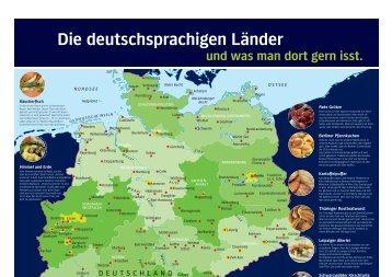 Die deutschsprachigen Länder und was man dort gern isst. - Hueber