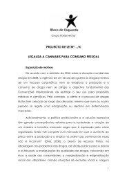 PROJECTO DE LEI Nº…/X LEGALIZA A CANNABIS PARA CONSUMO PESSOAL