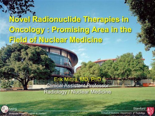 Oncology Promising Area in the Field of Nuclear Medicine
