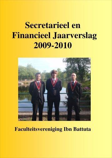 Secretarieel en Financieel Jaarverslag 2009-2010